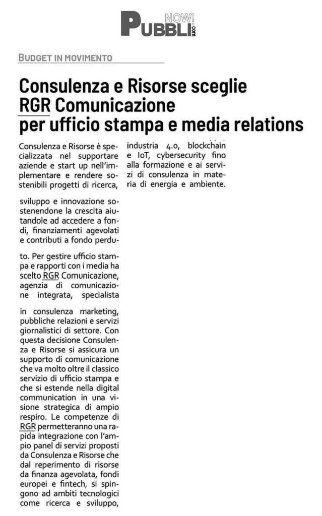 RGR Comunicazione su Publicom