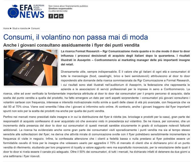 rgr comunicazione su EFA
