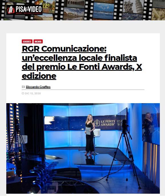 Pisa in video RGR Comunicazione