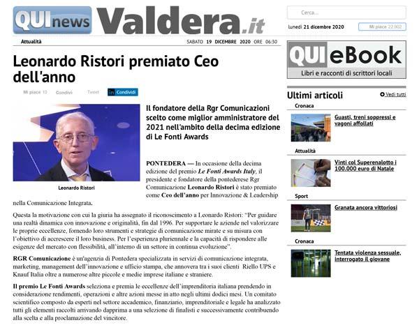 Quinews Valdera RGR Comunicazione
